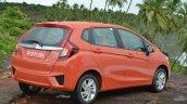 2015 Honda Jazz Petrol V CVT rear three quarter Review