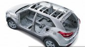 2015 Hyundai Creta HIVE body structure unveiled press image