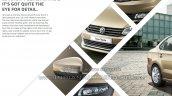 2015 VW Vento facelift front changes brochure