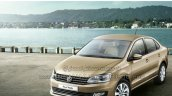 2015 VW Vento facelift front fascia brochure