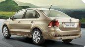 2015 VW Vento facelift rear quarters brochure