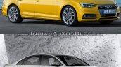 2016 Audi A4 (B9) vs 2013 Audi A4 (B8) front quarter old vs new