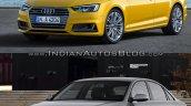 2016 Audi A4 (B9) vs 2013 Audi A4 (B8) front three quarter old vs new
