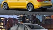 2016 Audi A4 (B9) vs 2013 Audi A4 (B8) rear quarter old vs new