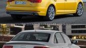 2016 Audi A4 (B9) vs 2013 Audi A4 (B8) rear three quarter old vs new