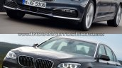 2016 BMW 7 Series vs 2014 BMW 7 Series front quarter Old vs New