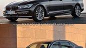 2016 BMW 7 Series vs 2014 BMW 7 Series front three quarter Old vs New