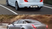 2016 Jaguar XJR vs 2014 Jaguar XJR rear quarter Old vs New
