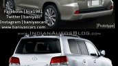 2016 Lexus LX570 vs 2014 Lexus LX570 rear three quarter Old vs New