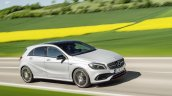 2016 Mercedes A Class AMG Line (facelift) front three quarter revealed press image