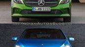 2016 Mercedes A Class vs 2012 Mercedes A Class front Old vs New