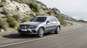 2016 Mercedes GLC off-road pack front three quarter unveiled press images