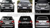 2016 Toyota Land Cruiser facelift front comparison leaked