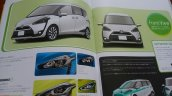 2016 Toyota Sienta design and headlamps brochure image leak