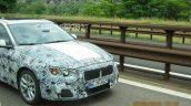 2017 BMW 1 Series sedan front end snapped testing