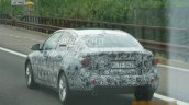 2017 BMW 1 Series sedan rear three quarter snapped testing