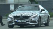Mercedes C-Class Coupe front quarter with production-spec body spotted