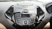 2015 Ford Figo Aspire Titanium 1.5 Diesel center console first drive review
