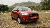 2015 Ford Figo Aspire Titanium 1.5 Diesel front quarter clos first drive review