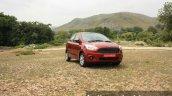 2015 Ford Figo Aspire Titanium 1.5 Diesel front quarter static first drive review