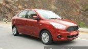 2015 Ford Figo Aspire Titanium 1.5 Diesel front three quarter dynamic first drive review