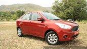 2015 Ford Figo Aspire Titanium 1.5 Diesel front three quarter first drive review