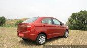 2015 Ford Figo Aspire Titanium 1.5 Diesel rear three quarter first drive review