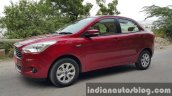 2015 Ford Figo Aspire Titanium Plus Petrol front three quarter first drive review