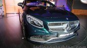 2015 Mercedes AMG S 63 Coupe front quarter launched in Delhi