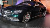 2015 Mercedes AMG S 63 Coupe front three quarter launched in Delhi