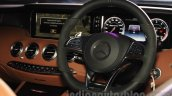 2015 Mercedes AMG S 63 Coupe steering wheel launched in Delhi
