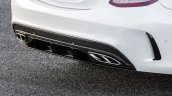 2015 Mercedes C Class faux diffuser get optional AMG accessories