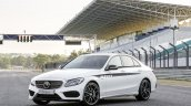 2015 Mercedes C Class front three quarter get optional AMG accessories