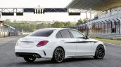 2015 Mercedes C Class rear three quarter get optional AMG accessories