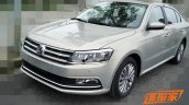 2015 Volkswagen Lavida facelift front three quarter revealed in images