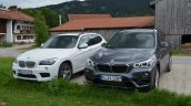 2016 BMW X1 (F48) front three quarter compared with 2014 BMW X1 (E84)