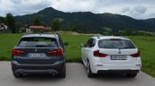 2016 BMW X1 (F48) rear compared with 2014 BMW X1 (E84)