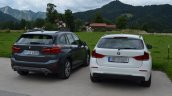 2016 BMW X1 (F48) rear quarter compared with 2014 BMW X1 (E84)