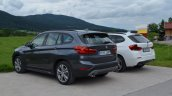 2016 BMW X1 (F48) rear three quarter compared with 2014 BMW X1 (E84)