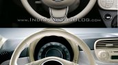 2016 Fiat 500 (facelift) vs 2007 Fiat 500 steering wheel Old vs New