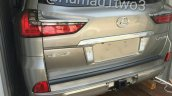 2016 Lexus LX rear quarter left spotted in the metal for first time