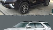 2016 Toyota Fortuner side vs older model