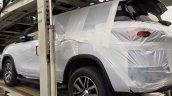 2016 Toyota Fortuner spied on transporter