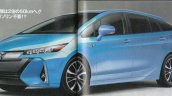 2016 Toyota Prius PHEV front three quarters rendered