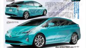 2016 Toyota Prius front and rear three quarters rendered