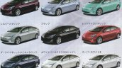 2016 Toyota Prius front three quarter color palette rendered