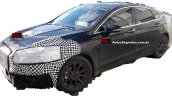 2017 Ford Fusion (facelift) front three quarter spotted testing in Brazil