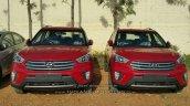 Hyundai Creta SX diesel front dealer spied