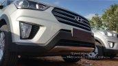 Hyundai Creta SX diesel grille dealer spied