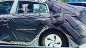 Hyundai hybrid car side spied